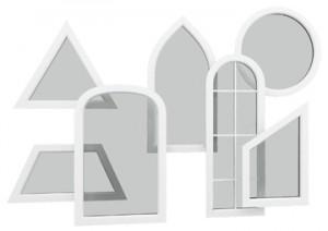 پنجره دوجداره قوس دار