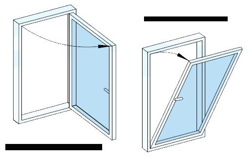 پنجره دوجداره دو حالته