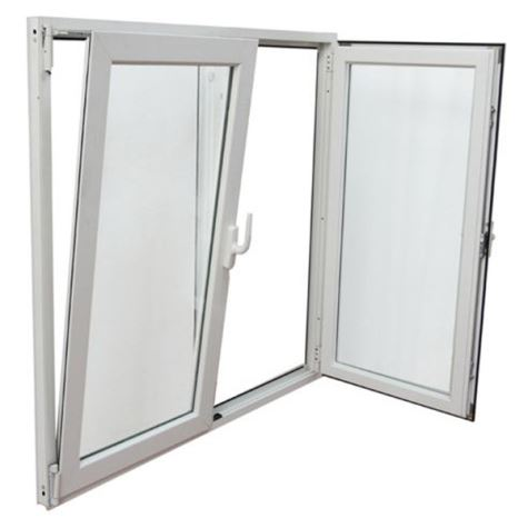 پنجره لولایی دوحالته