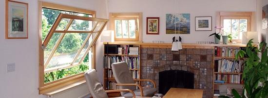 خرید پنجره دوجداره محوری