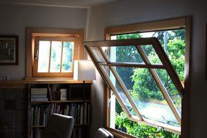 ابعاد پنجره دوجداره محوری