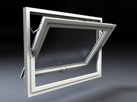 پنجره دوجداره محوری افقی