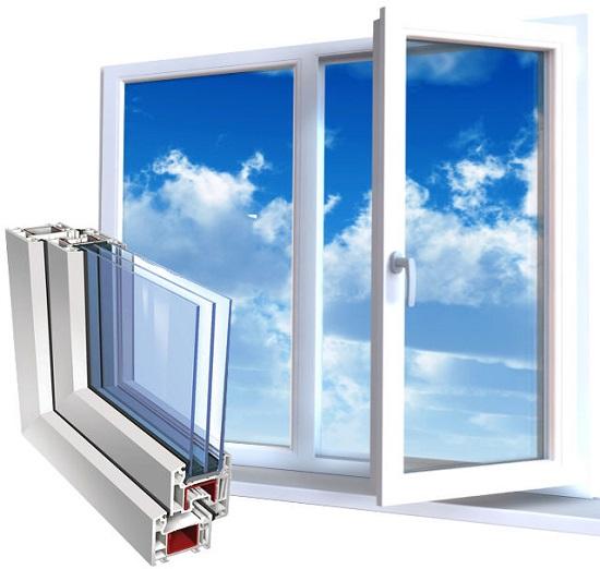 پنجره سه جداره تک حالته