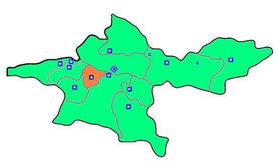نقشه شهرستان اسلامشهر